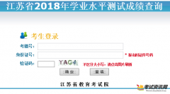<strong>江苏省2018年学业水平测试成绩查</strong>