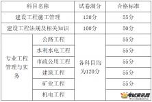 广西二级建造师执业资格考试合格分数线及考试合格标准