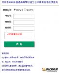 2020河南美术统考成绩查询入口http://www.heao.gov.cn