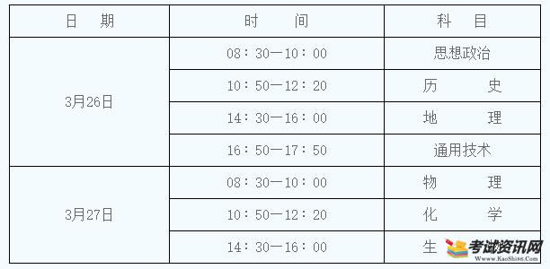 2022年陕西渭南普通高中学业水平考试时间